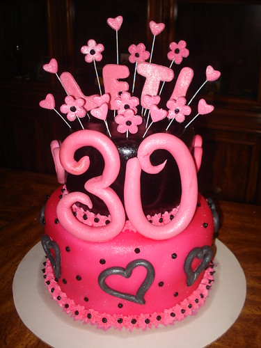 30th Birthday Cake 30th Birthday Cake Pink And Black