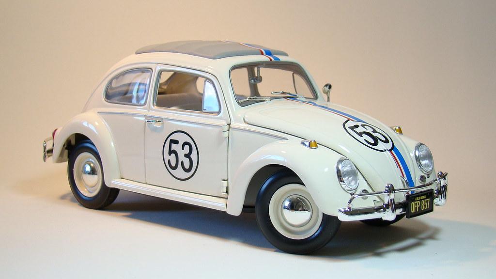Volkswagen Beetle Fusca 63 Herbie Diecast 1 18 Scale
