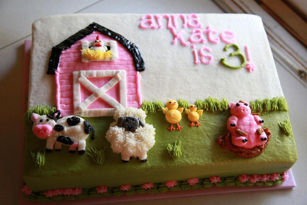 Animal Birthday Cakes For Girls