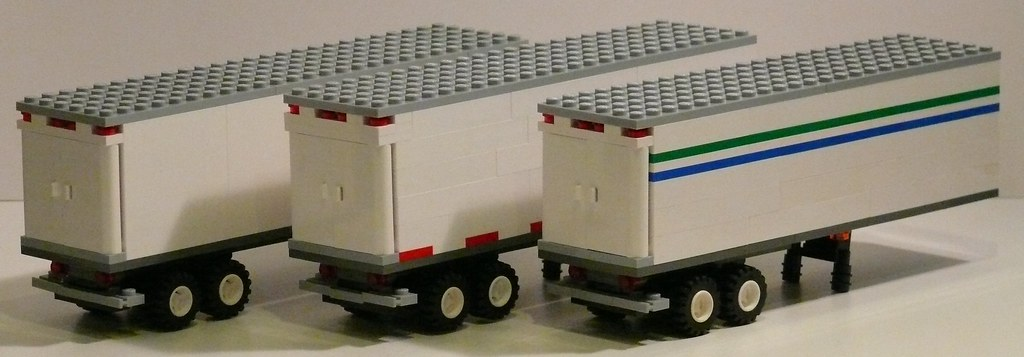 Lego Tractor Trailer : White trailers lego semi made to go with my