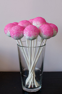 pink sparkle sugar pops | by Sweet Lauren Cakes