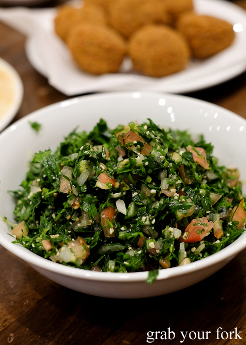 Tabbouleh at Jasmin1 in Punchbowl Sydney