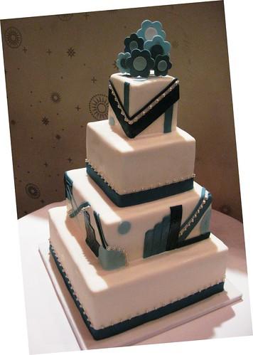 art deco square wedding cake stephaniethebaker.com Flickr