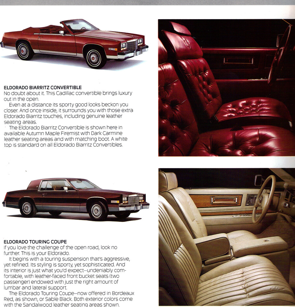 New Cadillac Eldorado >> 1985 Cadillac Eldorado Biarritz Convertible and Eldorado T… | Flickr