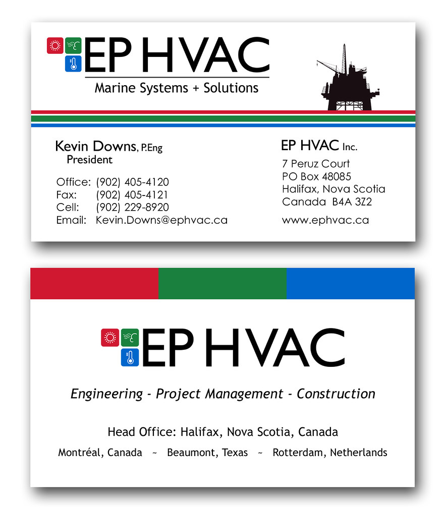ep hvac business cards  compelling media + design  flickr
