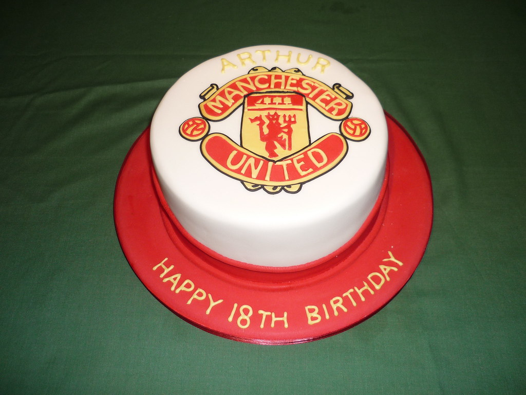 Manchester United 18th Birthday Cake This Was A