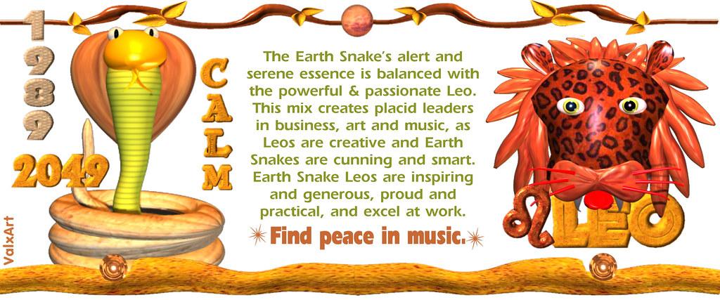 valxart 1989 2049 earth snake born leo chinese zodiac born