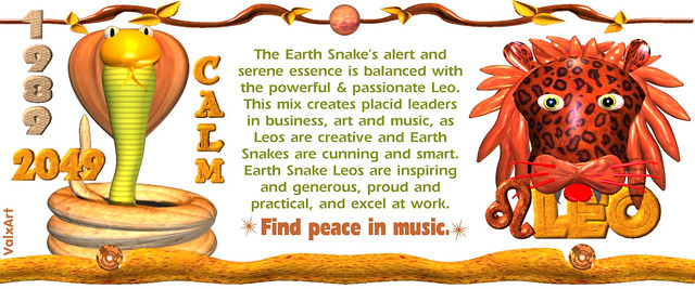 Valxart Earth Snake Born Leo Chinese Zodiac Flickr Sharing