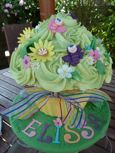Children's imagination garden giant cupcake | by The West Sussex Cupcake Company