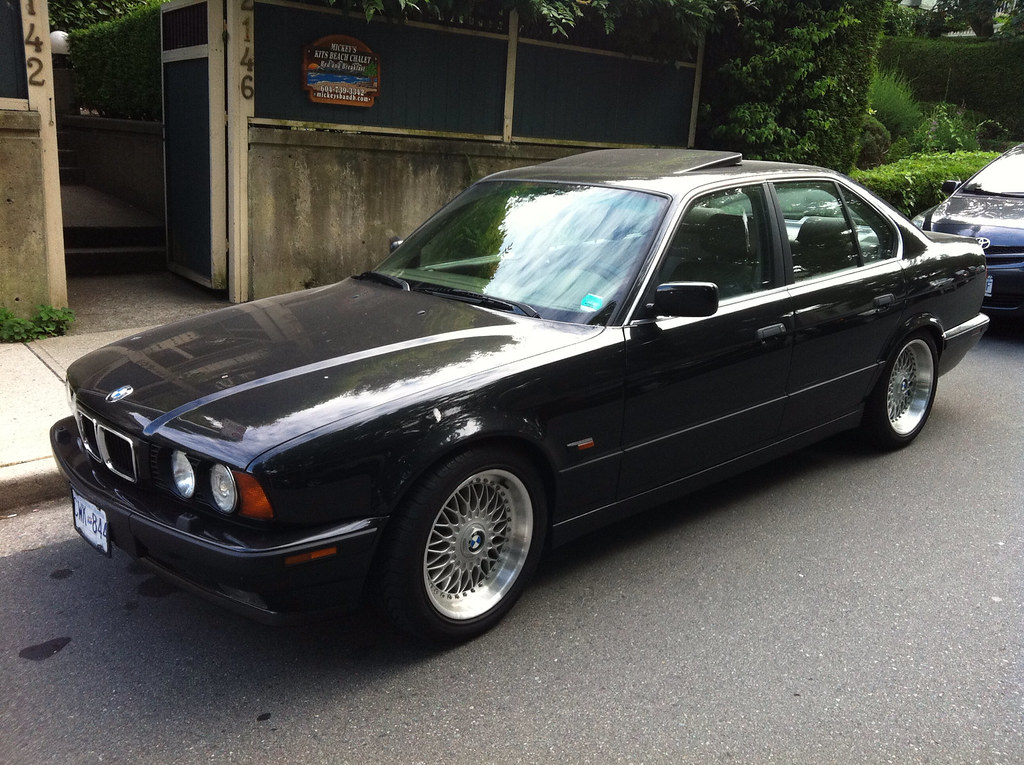 Bmw E34 540i With Bbs Style 5 Wheels Lowston Flickr