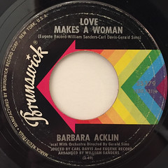 BARBARA ACKLIN:LOVE MAKES A WOMAN(LABEL SIDE-A)