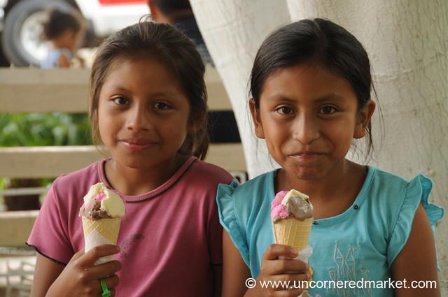 Uncorneredmarket Happy Girls With Ice Cream
