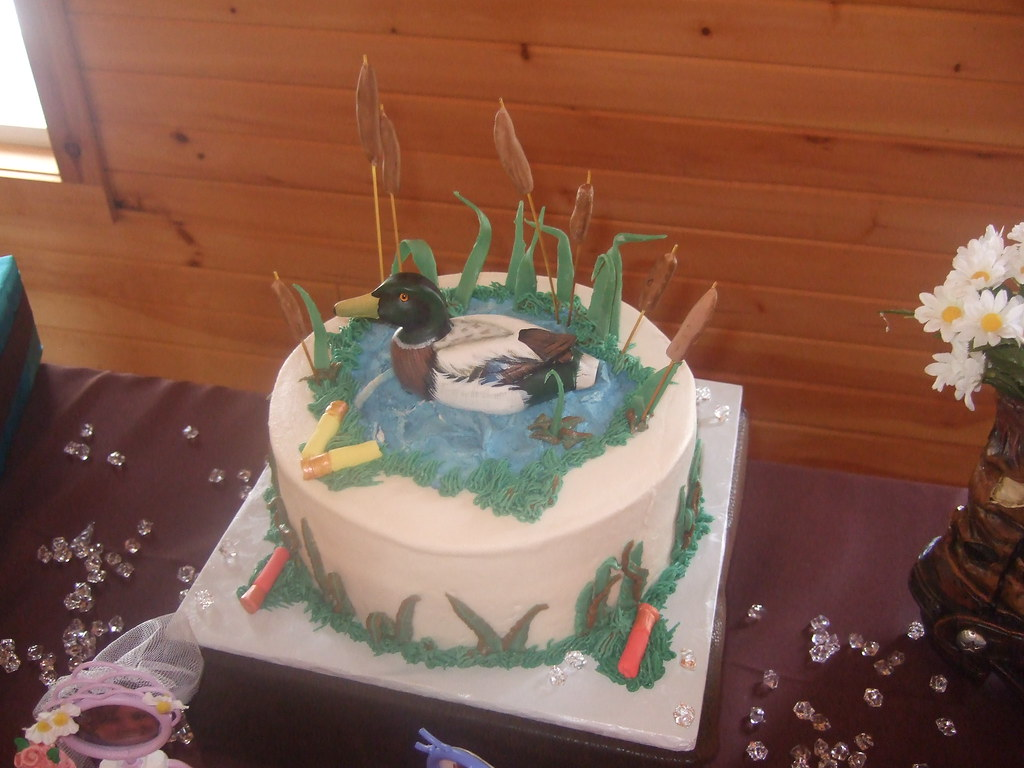 Duck Hunting Grooms Cake 10 inch butter kahlua cake is fi Flickr