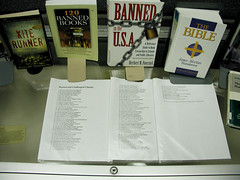 Banned Books Display (right side, detail) | by carmichaellibrary
