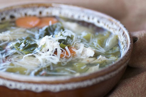 chicken soup with escarole DSC_0075 | by Food Blogga