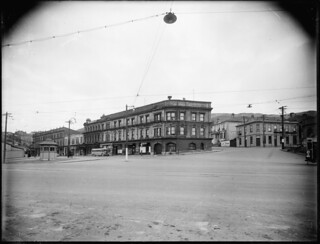 Hotel Cecil and the Thistle Inn, Thorndon, Wellington, ca 1930s | by National Library NZ on The Commons