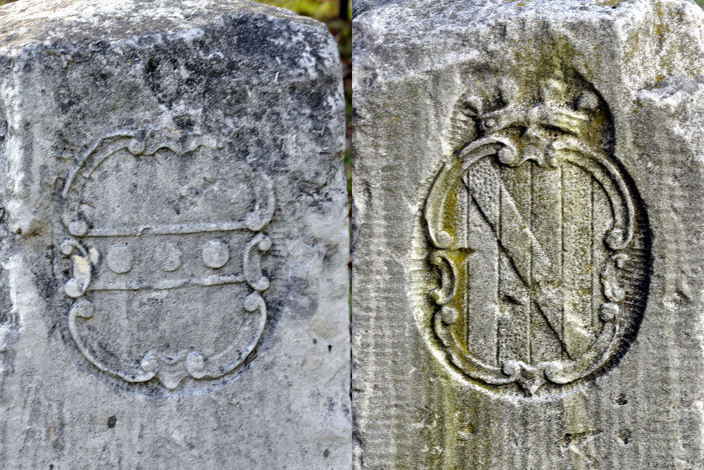 Pennsylvania >> Penn and Calvert family crests | On the Marydel crown stone,… | Flickr