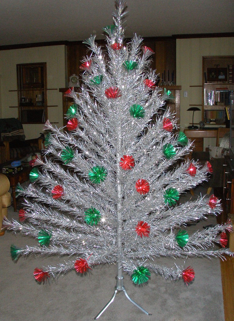 Aluminum Christmas Tree Red Green Carey Mcfall Aluminum