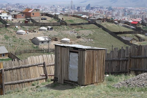 Outhouse in ger district, Ulaanbaatar, Mongolia | by East Asia & Pacific on the rise - Blog