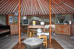 Inside of a Mongolian ger tent | by East Asia & Pacific on the rise - Blog