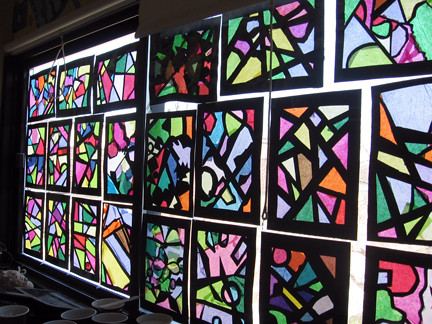 Stained Glass Window Craft Black Paper