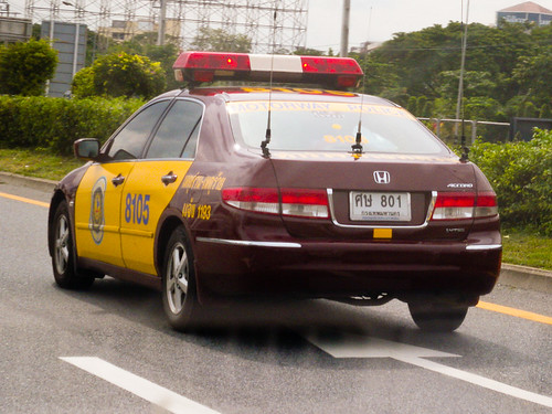 thai motorway police  honda accord   royal thai poli flickr