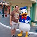 Jon and Donald Duck in Toontown