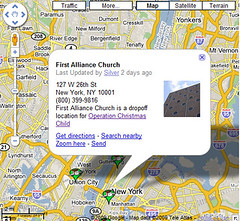 First Alliance Church - Operation Christmas Child Location in Google Map | by Si1very