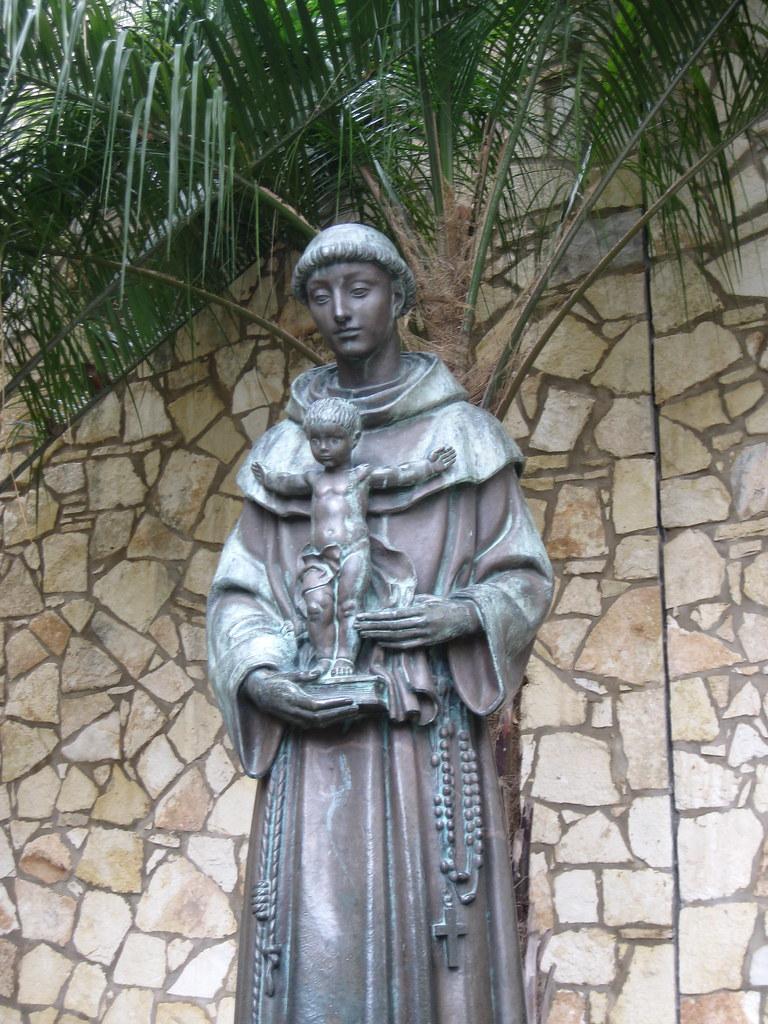 Statue Of Saint Anthony Of Padua On The Riverwalk Statue