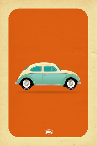 Vw Beetle Iphone Wallpaper At Last Exclusive Hand Drawn C Flickr