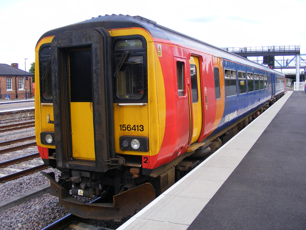 Class 156 156413 East Midlands Trains Lincoln Central