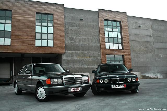 Mercedes W126 300se Bmw E32 750i Bram Van Der