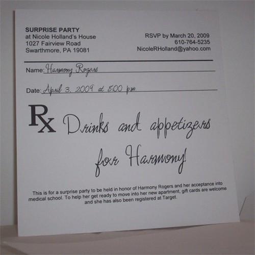 Prescription Pad Party Invitation An Invitation To A
