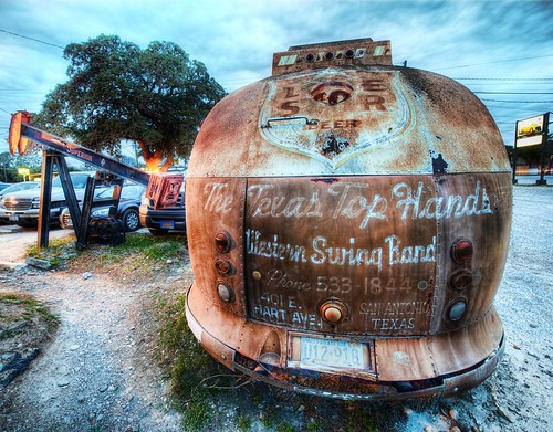 The Broken Spoke Bus for the Texas Top Hands Western Swing Band | by Stuck in Customs