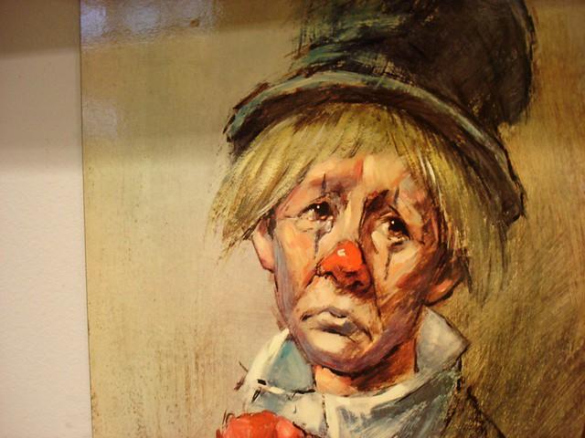 Sad Clown Painting Inside Fremont Antique Shop Lisa