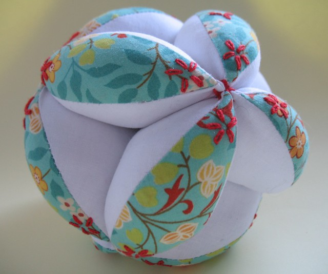 Fabric Puzzle Ball | Sewn in 12 sections. Print is from the ...