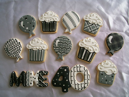 Mike S 40th Birthday Cookies I Took This Order Yesterday
