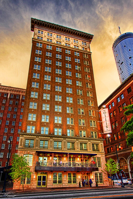 Old Winecoff Hotel Now The Ellis Hotel Downtown Atlanta