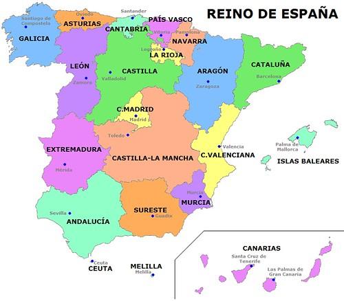 Autonomas de Espaa  Mapa de las comunidades y ciudades au  Flickr