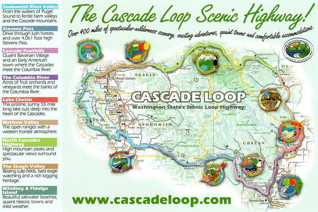 wa cascade loop scenic highway map reserved nhigh flickr