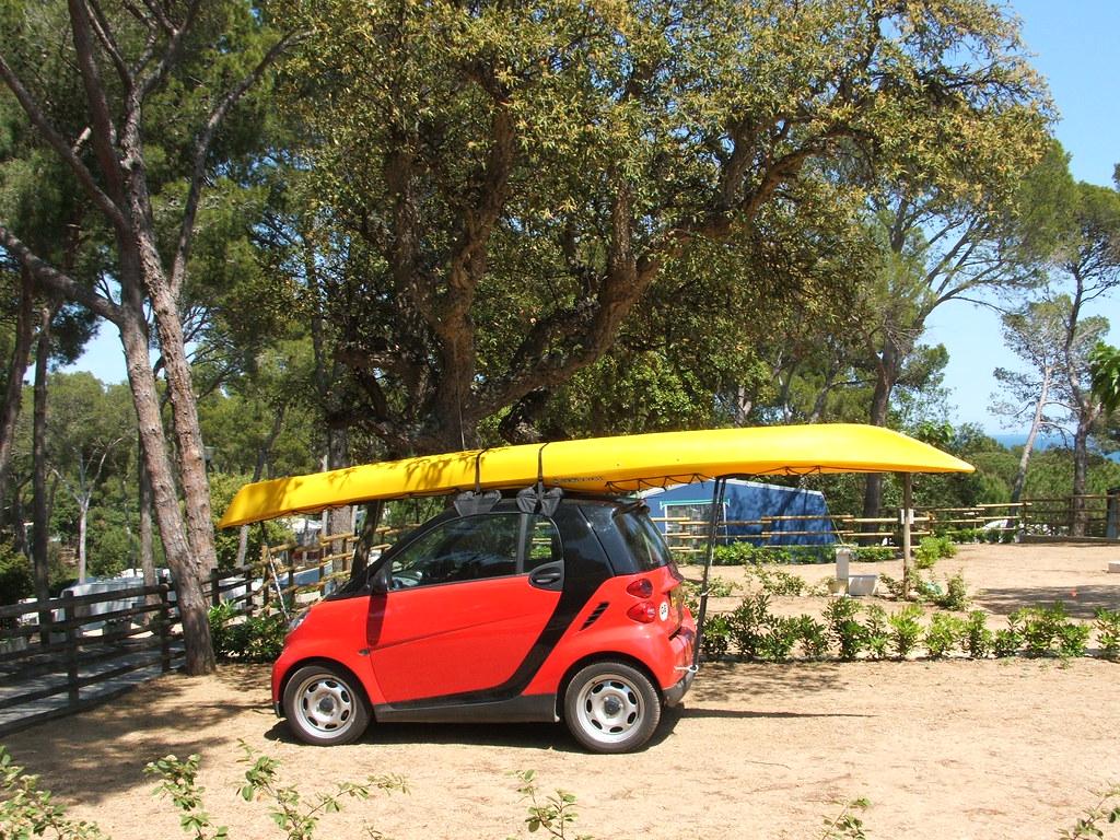 New Smart Car >> Sea kayak on smart car Camping Calagogo Costa Brava | Flickr