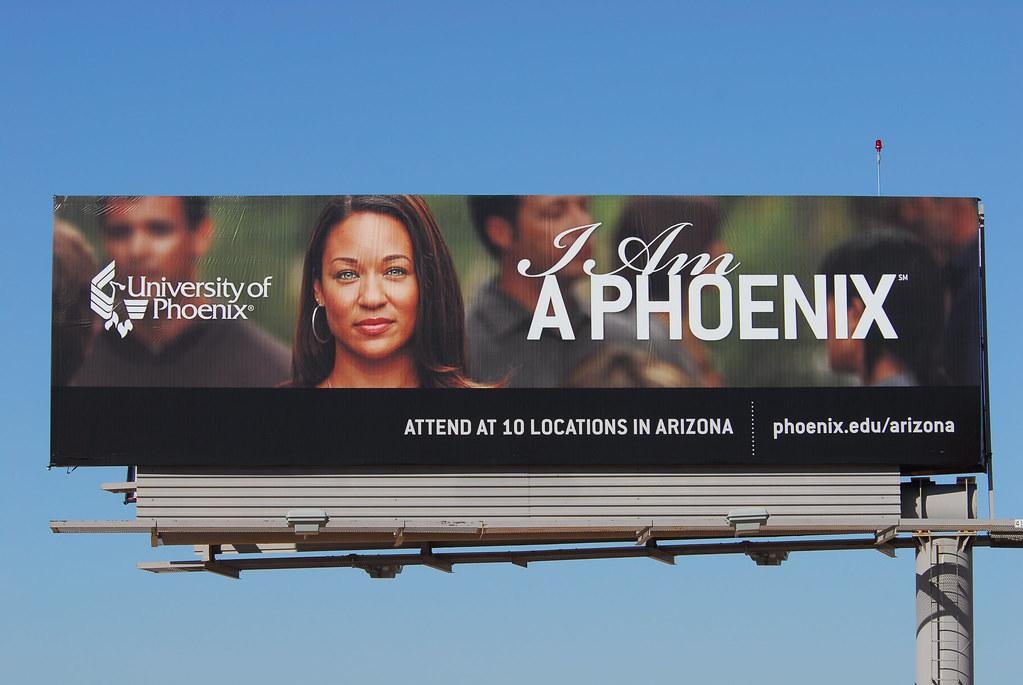 i am a phoenix university of phoenix billboard santan