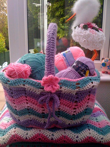My Basketful of lovely wool. | by MRS TWINS/SIBOL 'Sunshine International Blankets