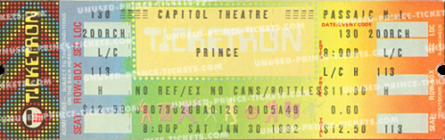 Prince ticket - 30 January 1982 - Passaic, Capitol Theatre | by Thomas de Bruin