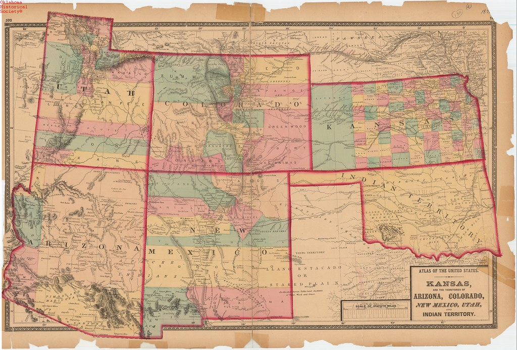 Map Of Kansas And The Territories Of Colorado New Mexico Flickr - Map of arizona and new mexico
