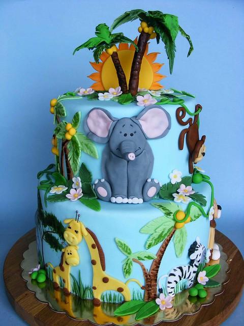 Детские торты фото со зверями