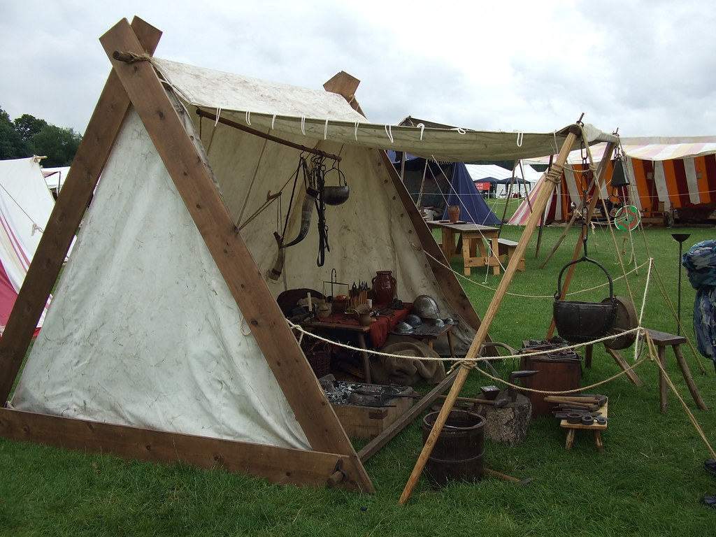 Viking tent wow do i want one just look at that for How to build a canvas tent frame