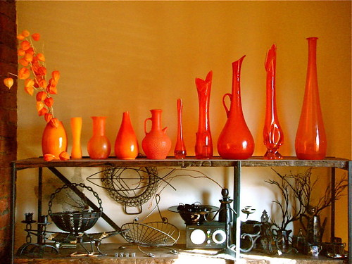 my orange glass vessels... | by denise carbonell