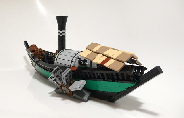 Steam Boat Img06 Small Steampunk Boat Lomero Flickr