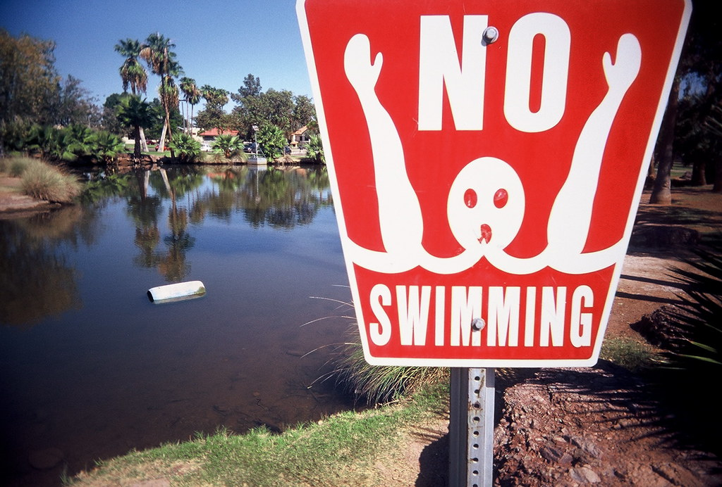 Image result for no swimming sign